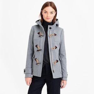 J Crew Melton Wool Duffle Coat Grey Size 6
